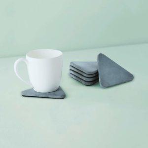 Wonderwheelstore | 03 | Set Of 6 Trion Grey & Beige Concrete Coasters Gmac013 1
