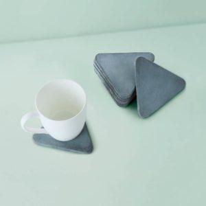 Wonderwheelstore | 03 | Set Of 6 Trion Grey & Beige Concrete Coasters Gmac013 2