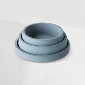Wonderwheelstore | 04 | Set Of 3 Concrete Circular Organiser Trays Gmor007 008 009 1