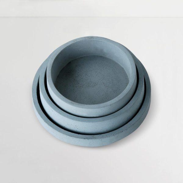 Wonderwheelstore | 04 | Set Of 3 Concrete Circular Organiser Trays Gmor007 008 009 2