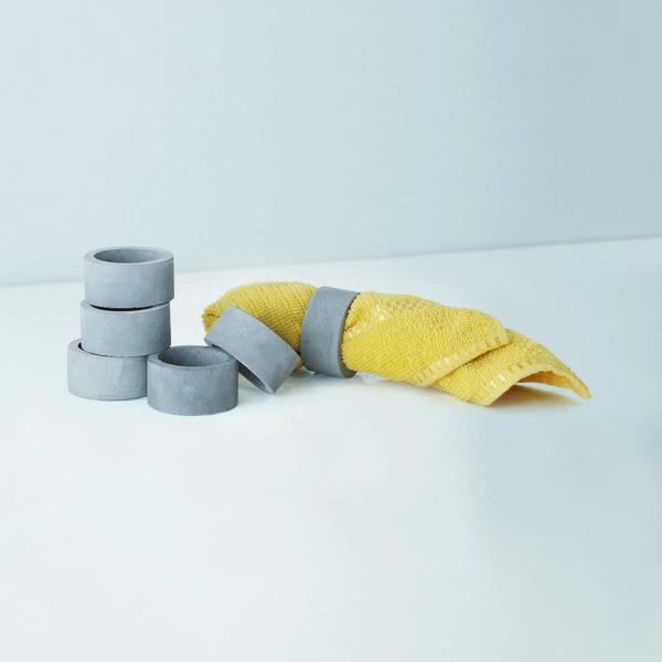 Wonderwheelstore | 04 | Set Of 6 Oring Grey & Beige Concrete Coasters Gmac015 2