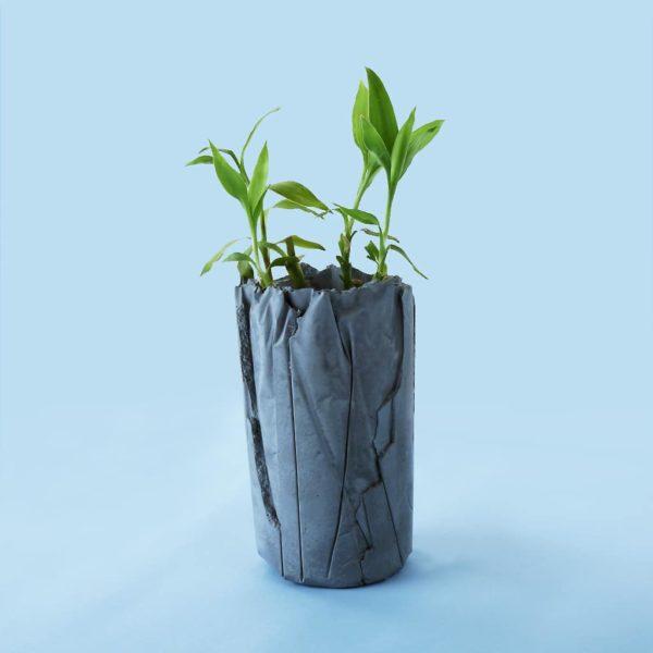 Wonderwheelstore | 05 | Concrete Crinkled Handmade Vase Gmle001 1