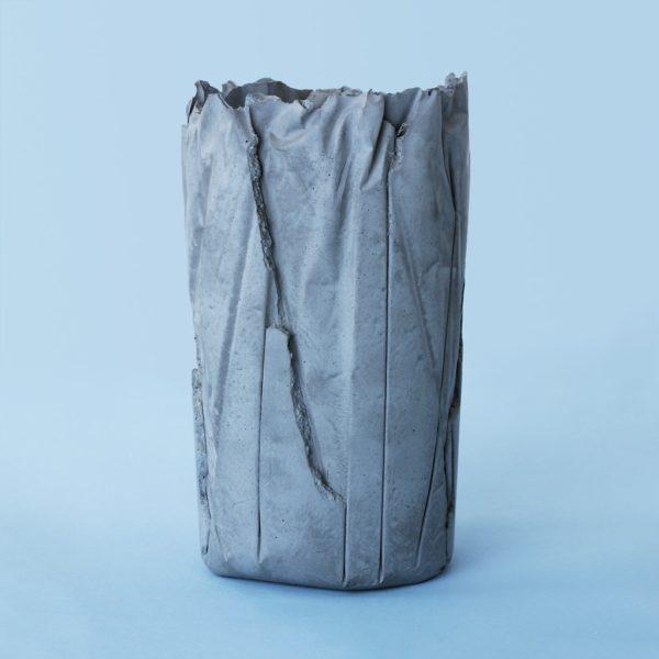 Wonderwheelstore | 05 | Concrete Crinkled Handmade Vase Gmle001 2