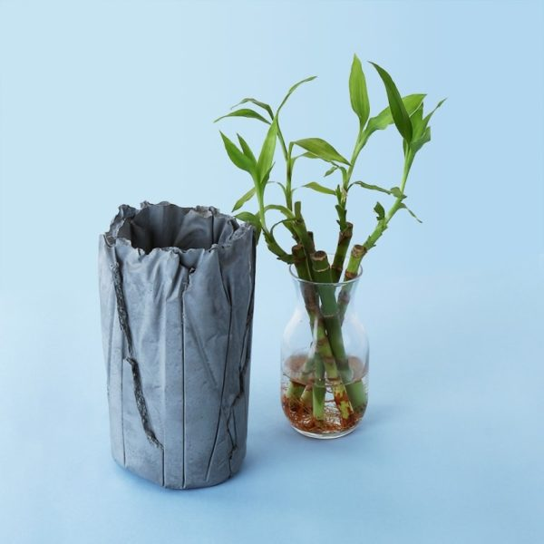 Wonderwheelstore | 05 | Concrete Crinkled Handmade Vase Gmle001 5