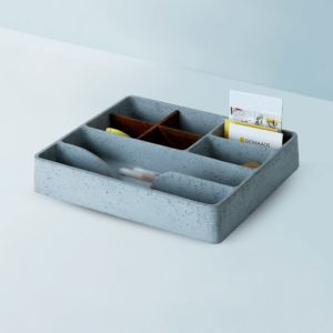 Wonderwheelstore | 05 | Concrete Mesa Stuco Big Tray Organiser Gmor005w 1