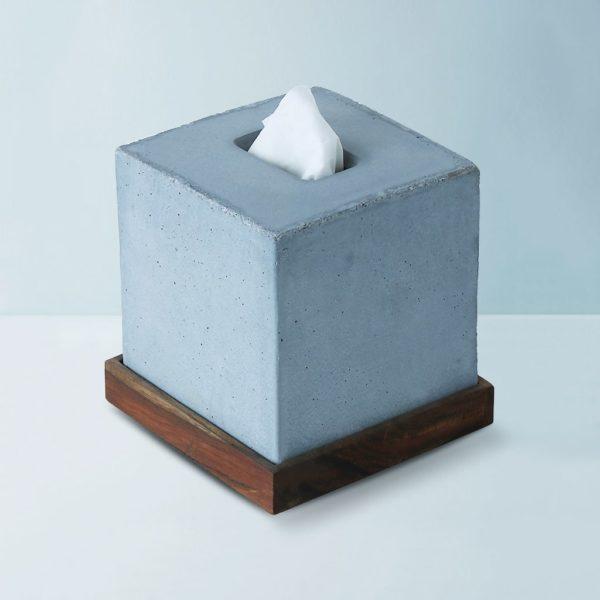 Wonderwheelstore | 05 | Concrete Tisco Square Tissue Holder Gmbr003w 1
