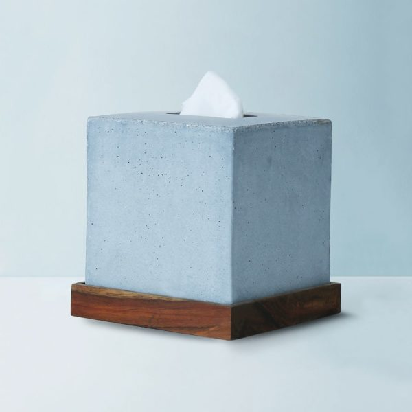 Wonderwheelstore | 05 | Concrete Tisco Square Tissue Holder Gmbr003w 2
