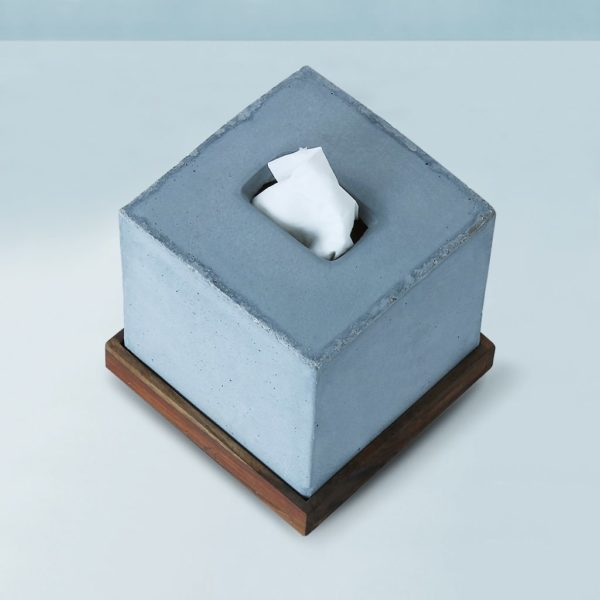 Wonderwheelstore | 05 | Concrete Tisco Square Tissue Holder Gmbr003w 3