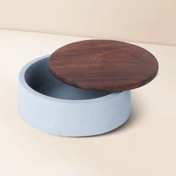 Wonderwheelstore   05   Wood & Concrete Mesa Round Tray Gmor007w 1