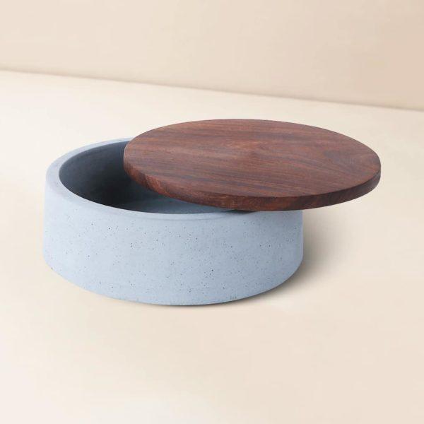 Wonderwheelstore   05   Wood & Concrete Mesa Round Tray Gmor007w 2