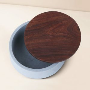 Wonderwheelstore | 05 | Wood & Concrete Mesa Round Tray Gmor007w 3
