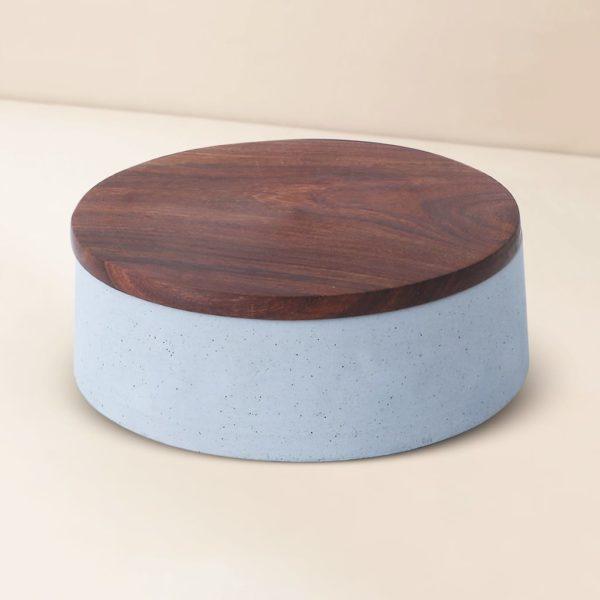 Wonderwheelstore   05   Wood & Concrete Mesa Round Tray Gmor007w 4