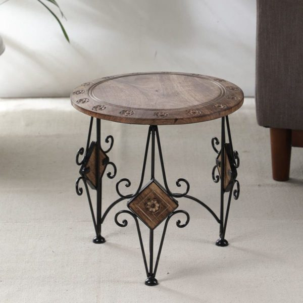 Wonderwheelstore | 18 | Round Table With Boat Stool 15inch