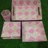 Jaipuri Block Printed Folders – Pink and Blue