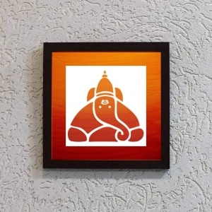Wonderwheelstore | 24 | Acessf002 Ballaleshwar Ganpati Stencil Frame