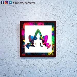 Wonderwheelstore | 24 | Acessf003 Buddha Flower Stencil Frame