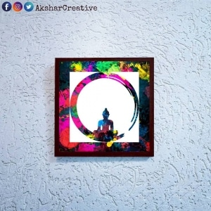 Wonderwheelstore | 24 | Acessf004 Buddha Globe Stencil Frame
