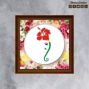 Wonderwheelstore | 25 | Acessf009 Hibiscus Ganesha Stencil Frame