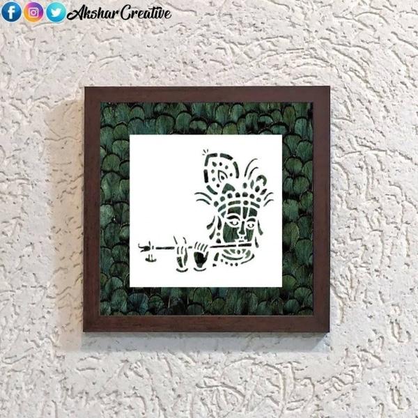 Wonderwheelstore | 25 | Acessf014 Krishna Flute Stencil Frame