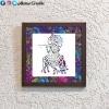 Krishna Flute Stencil Frame