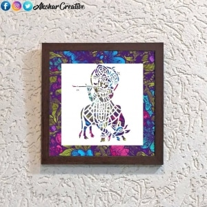 Wonderwheelstore | 25 | Acessf015 Krishna With Cow Stencil Frame