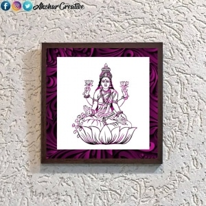 Wonderwheelstore | 25 | Acessf016 Lakshmi Devi Stencil Frame
