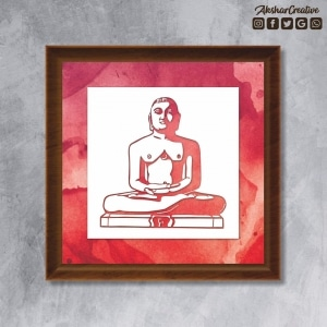 Wonderwheelstore | 25 | Acessf017 Lord Mahavir Stencil Frame 1