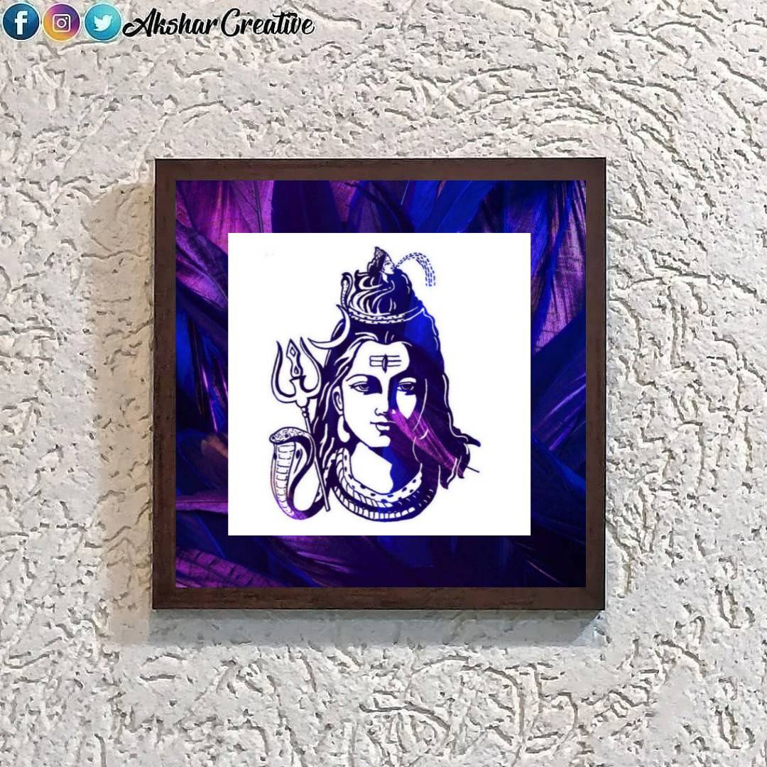 Wonderwheelstore | 25 | Acessf019 Lord Shiva Face Stencil Frame