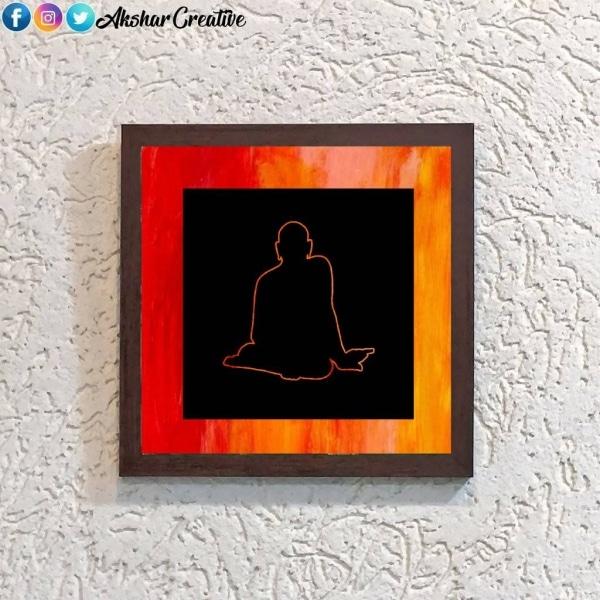 Wonderwheelstore   25   Acessf028 Swami Samarth Stencil Frame