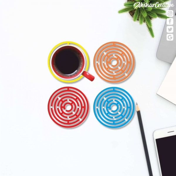 Wonderwheelstore | 27 | Aceco002 Maze Game Round Coasters