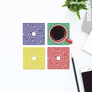 Wonderwheelstore | 27 | Aceco003 Maze Game Square Coasters