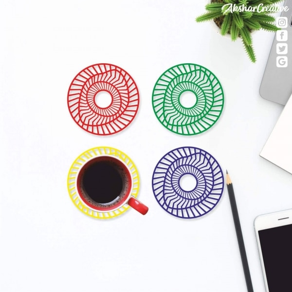 Wonderwheelstore | 27 | Aceco008 Illusion Round Coasters