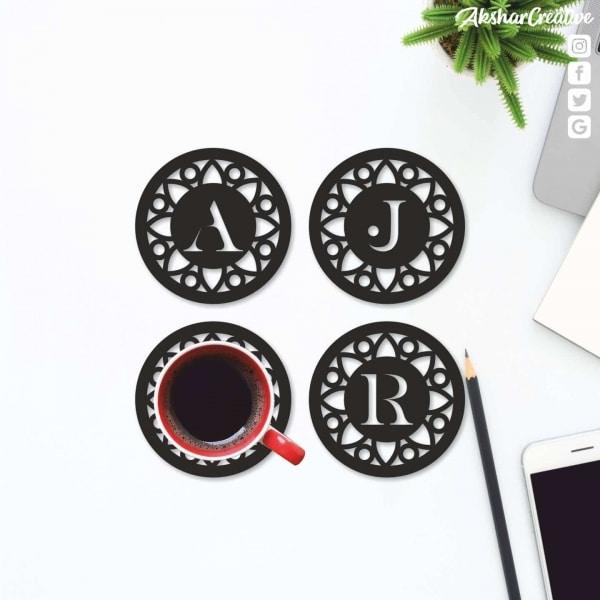Wonderwheelstore | 27 | Aceco010 Monogram Letter Coaster