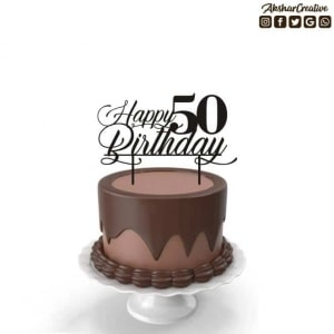 Wonderwheelstore | 27 | Acect005 Happy Birthday Personalised Caketopper