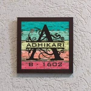 Wonderwheelstore | 27 | Acemono005 Colourful Back Nameplate 9 X 9 Inches