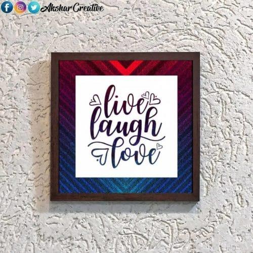 Wonderwheelstore | 28 | Aceqmsf016 Live Laugh Love Stencil Frame