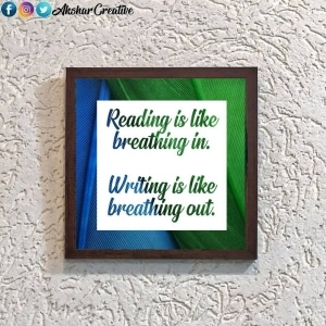 Wonderwheelstore | 28 | Aceqmsf024 Reading Is Breathing Stencil Frame
