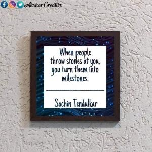 Wonderwheelstore | 28 | Aceqmsf025 Sachin Tendulkar Quote Stencil Frame