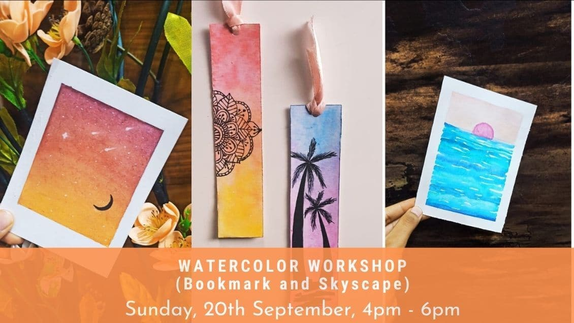 Watercolor workshop(Bookmark and Skyscape Art)