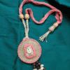 Neckpiece With Wooden Beads Pendant