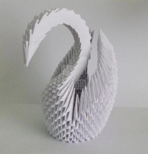 Wonderwheelstore 15 3d Origami White Swan By Designermetin D519gqr Fullview