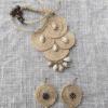 Barbie Doll handpainted Neckpiece with Earrings set